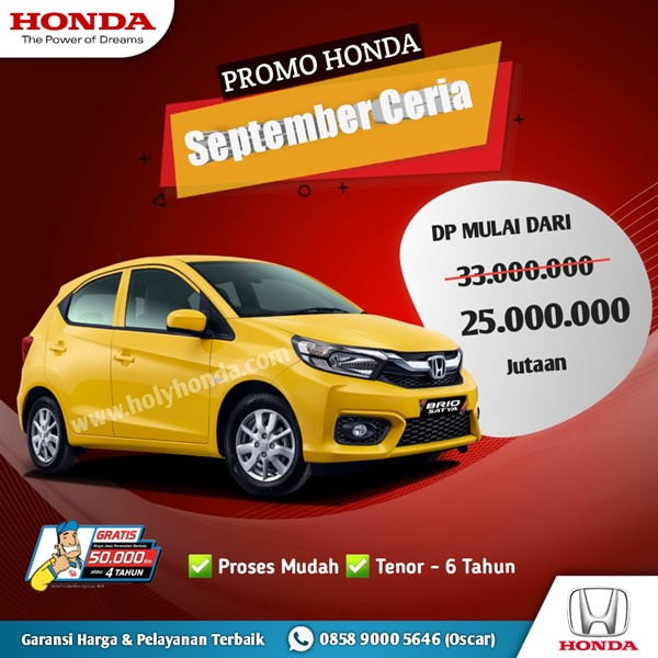 Promo Honda Brio 2021